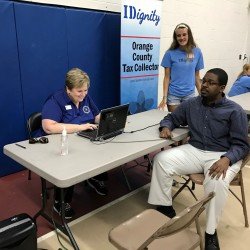 Photo of iDignity event to help residents obtain a driver's license or ID.